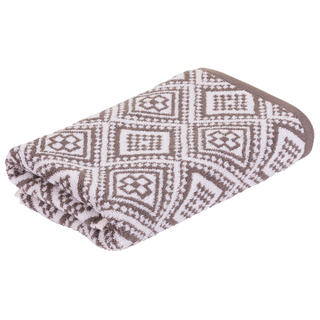 Ręcznik frotte MARRAKECH Mosaik brązowy 50 x 100 cm