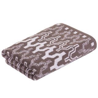 Ręcznik frotte MARRAKECH Chevron brązowy 50 x 100 cm