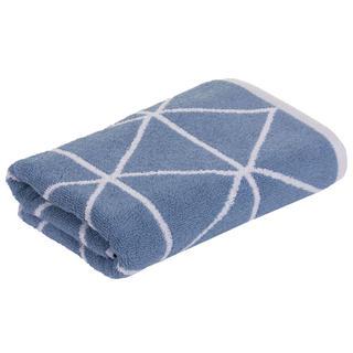 Ręcznik kąpielowy frotte GRAPHICS Triangle niebieski 75 x 150 cm