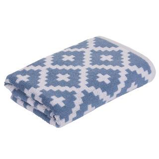 Ręcznik frotte GRAPHICS Rauten niebieski 50 x 100 cm