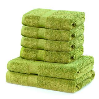Bawełniane ręczniki frotte i ręczniki kąpielowe MARINA kiwi, zestaw 6 szt.