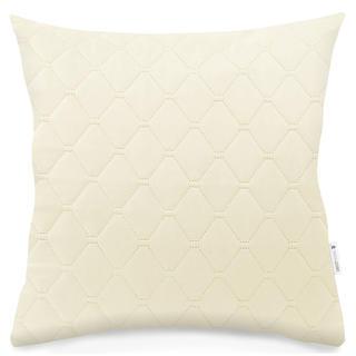 Pikowana poszewka na poduszkę AXEL beżowa
