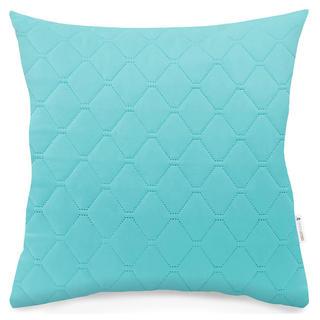 Pikowana poszewka na poduszkę AXEL turkusowy