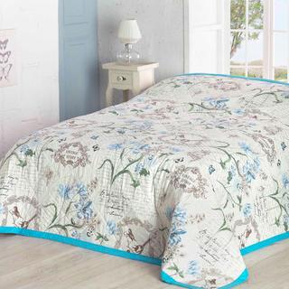 Narzuta na łóżko Valerie, niebieska