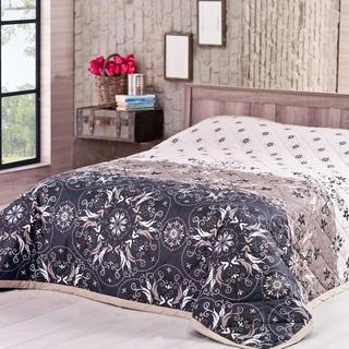 Narzuta na łóżko Alberica, brązowa 220 x 240 cm