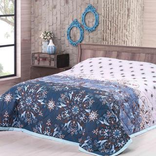 Narzuta na łóżko Alberica, niebieska
