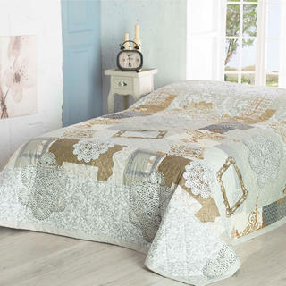 Narzuta na łóżko LACE, beżowa