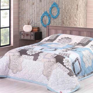 Narzuta na łóżko LACE, turkusowa