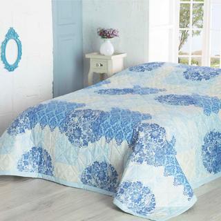 Narzuta na łóżko OTTORINO, turkusowa