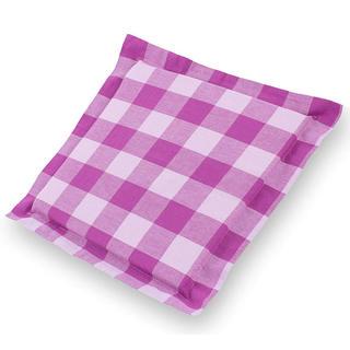 Poduszka na krzesło Indie z ozdobnym wykończeniem kostka fioletowa