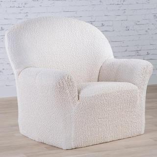 Bi-elastyczne pokrowce BUKLÉ śmietankowy, fotel (sz. 60 - 110 cm)