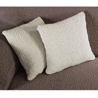 Bi-elastyczne pokrowce BUKLÉ śmietankowy, poszewki na poduszkę 2 szt. (40 x 40 cm)