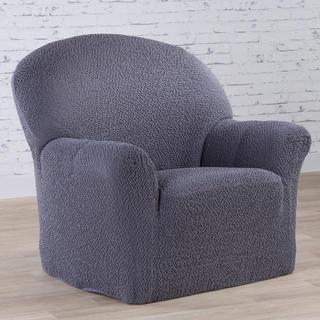Bi-elastyczne pokrowce BUKLÉ szary, fotel (sz. 60 - 110 cm)