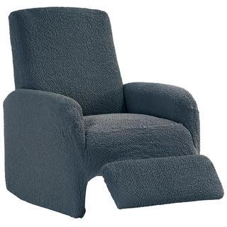 Bi-elastyczne pokrowce BUKLÉ szary, fotel relaks (sz. 70 - 90 cm)