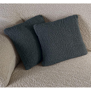 Bi-elastyczne pokrowce BUKLÉ szary, poszewki na poduszkę 2 szt. (40 x 40 cm)