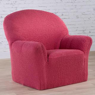 Bi-elastyczne pokrowce BUKLÉ truskawkowy, fotel (sz. 60 - 110 cm)