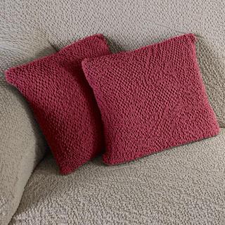 Bi-elastyczne pokrowce BUKLÉ truskawkowy, poszewki na poduszkę 2 szt. (40 x 40 cm)