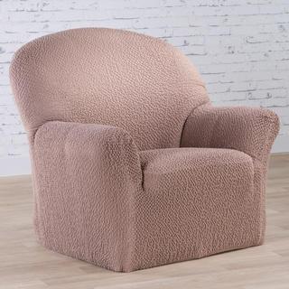 Bi-elastyczne pokrowce BUKLÉ orzeszkowy, fotel (sz. 60 - 110 cm)