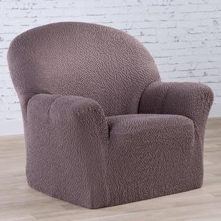 Bi-elastyczne pokrowce BUKLÉ brąz tytoniowy, fotel (sz. 60 - 110 cm)