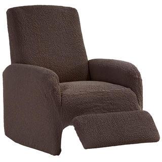 Bi-elastyczne pokrowce BUKLÉ brąz tytoniowy fotel relaks (sz. 70 - 90 cm)