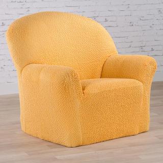 Bi-elastyczne pokrowce BUKLÉ musztardowy fotel (sz. 60 - 110 cm)
