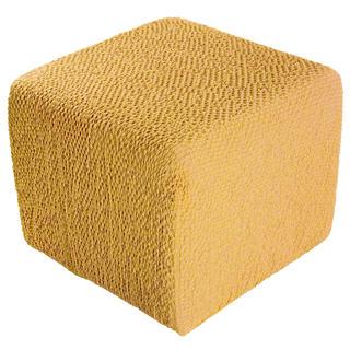 Bi-elastyczne pokrowce BUKLÉ musztardowy pufa (40 x 40 x 40 cm)