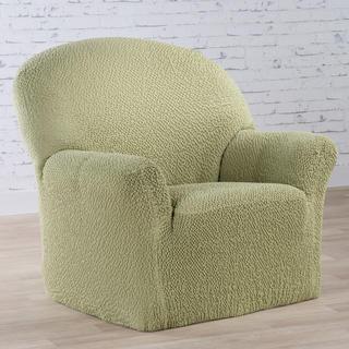 Bi-elastyczne pokrowce BUKLÉ groszkowy fotel (sz. 60 - 110 cm)