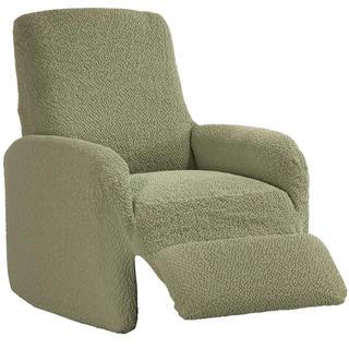 Bi-elastyczne pokrowce BUKLÉ groszkowy fotel relaks (sz. 70 - 90 cm)