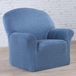Bi-elastyczne pokrowce BUKLÉ denimowy fotel (sz. 60 - 110 cm)