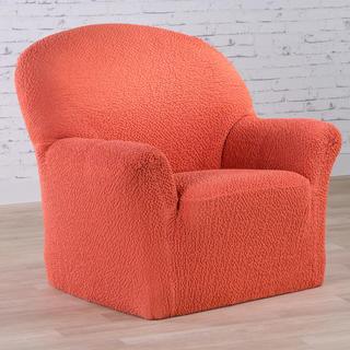Bi-elastyczne pokrowce BUKLÉ koralowy, fotel (sz. 60 - 110 cm)