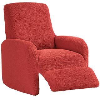 Bi-elastyczne pokrowce BUKLÉ koralowy, fotel relaks (sz. 70 - 90 cm)