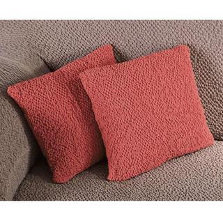 Bi-elastyczne pokrowce BUKLÉ koralowy, poszewki na poduszkę 2 szt. (40 x 40 cm)