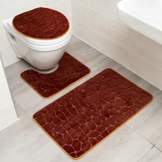 Zestaw dywaników łazienkowych KAMIENIE 3 szt.
