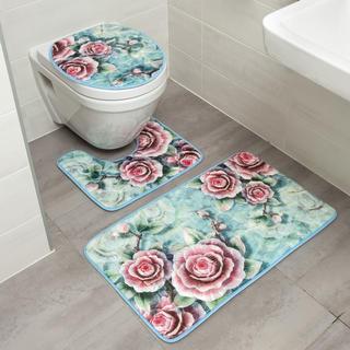 Zestaw dywaników łazienkowych RÓŻE 3 szt.
