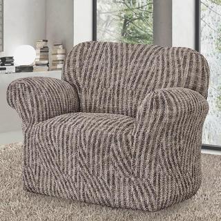 Bi-elastyczne pokrowce ROCCIA brązowe fotel (sz. 60 - 110 cm)