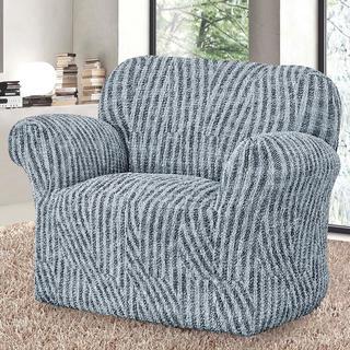 Bi-elastyczne pokrowce ROCCIA szare, fotel (sz. 60 - 110 cm)