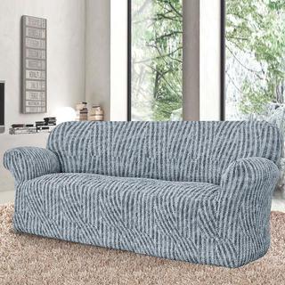 Bi-elastyczne pokrowce ROCCIA szare, kanapa trzyosobowa (sz. 170 - 220 cm)