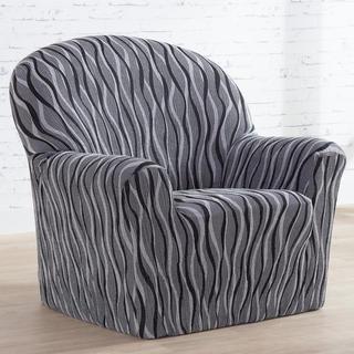 Mono-elastyczne pokrowce CASIOPEA szare fotel (sz. 70 - 110 cm)