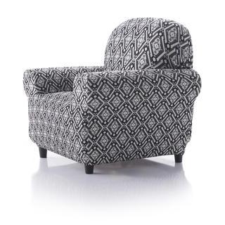 Mono-elastyczne pokrowce ZUMA czarno-biały, fotel (sz. 70 - 110 cm)