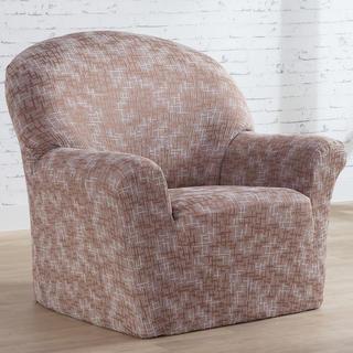 Mono-elastyczne pokrowce SOFIA beżowe, fotel (sz. 70 - 110 cm)