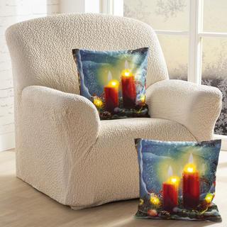 Zestaw poszewek na poduszki ŚWIECZKI ze światłami LED 2 szt.