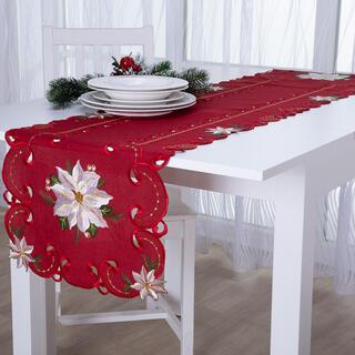 Bieżnik świąteczny na stół z haftem POISONETTA