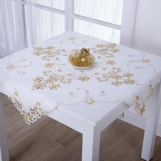 Świąteczna nakładka na stół z haftem CZAS GWIAZDOWY 85 x 85 cm