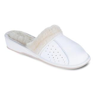 Pantofle domowe na koturnie