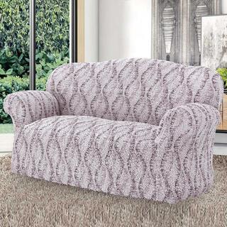 Bi-elastyczne pokrowce LIBECCIO cieniowane beżowe, kanapa dwuosobowa (sz. 110 - 170 cm)