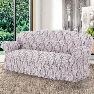 Bi-elastyczne pokrowce LIBECCIO cieniowane beżowe, kanapa trzyosobowa (sz. 170 - 220 cm)