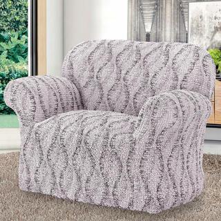 Bi-elastyczne pokrowce LIBECCIO cieniowane beżowe, fotel (sz. 60 - 110 cm)
