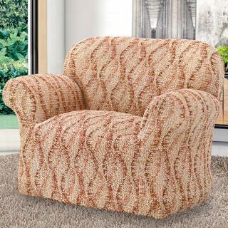 Bi-elastyczne pokrowce LIBECCIO cieniowane cegła, fotel (sz. 60 - 110 cm)