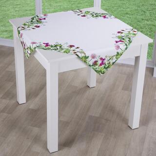 Obrus nakładka WIOSENNA ŁĄKA biały 85 x 85 cm
