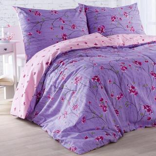 Pościel bawełniana ALEGRIA różowo-fioletowa